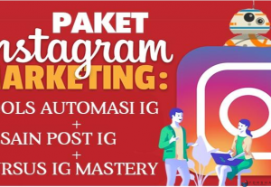 PAKET IG MARKETING PRO (Tools Auto Robot IG + Design Post Pack + Kursus IG Mastery)