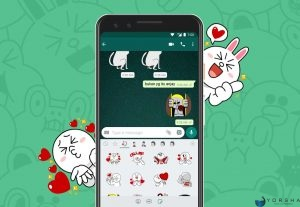 Jual Jasa Import 10 Sticker Line ke Whatsapp