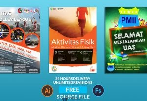 Design Professional  Poster, Flyer and Brochure in 24 Hours